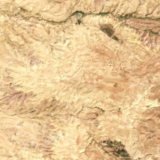satellite view of the region around Khirbet el Muhatta