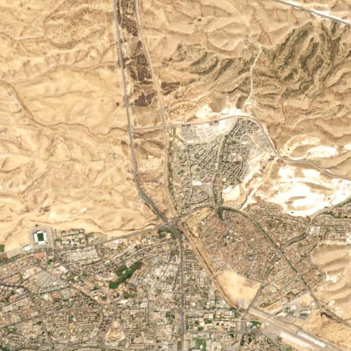 satellite view of the region around Khirbet Asan