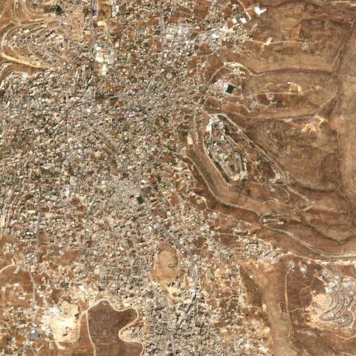 satellite view of the region around Khirbet Shab Salah