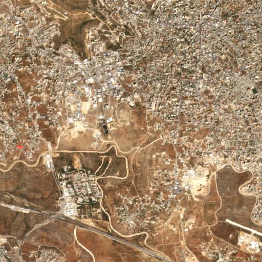 satellite view of the region around Bir ed Deir