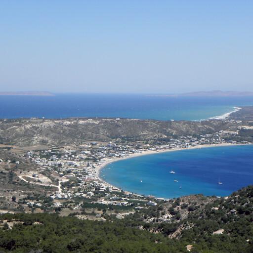 panorama of a bay on Kos