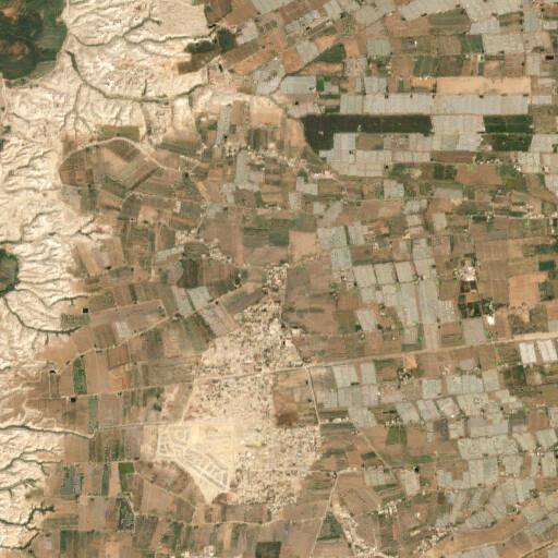 satellite view of the region around Tell el Ekhsas