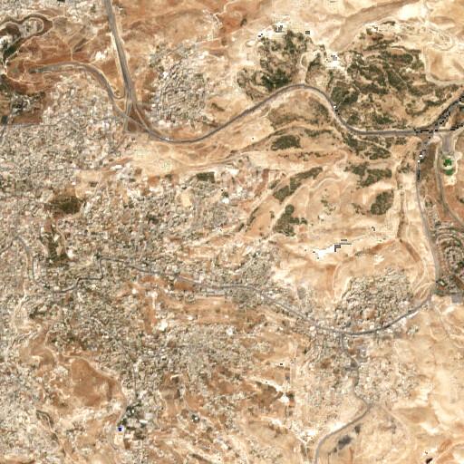 satellite view of the region around Ein Haud