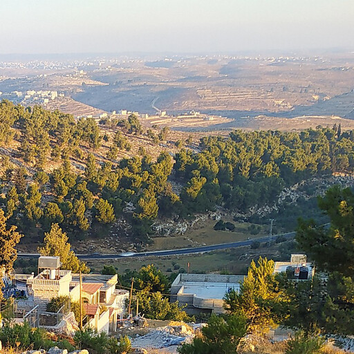 panorama of hills in the region south of Hebron