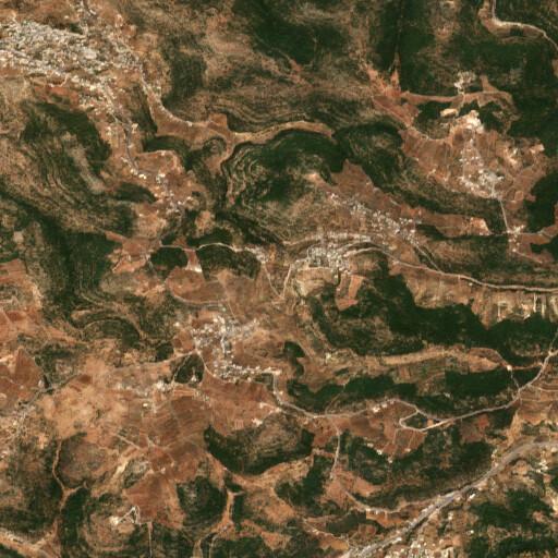 satellite view of the region around Khirbet Mehna