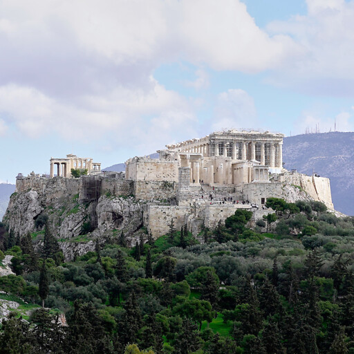 panorama of the acropolis at Athens