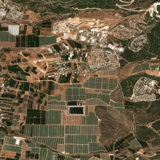 satellite view of the region around Horbat Kenesiyya