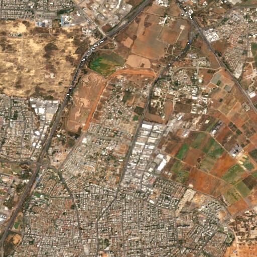 satellite view of the region around Khirbet Dajun