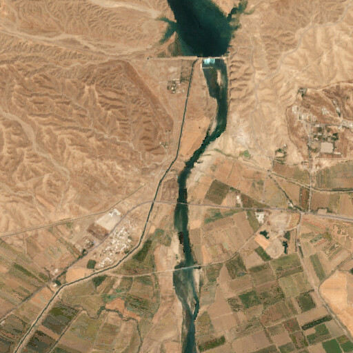 satellite view of the region around the Ulai canal