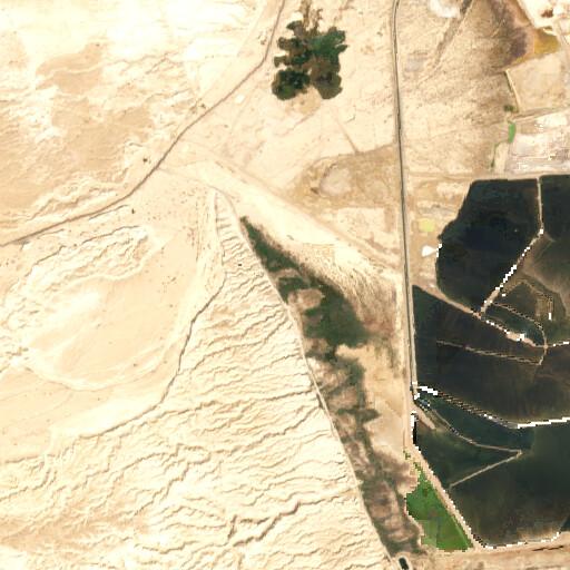satellite view of the region around En Tamar