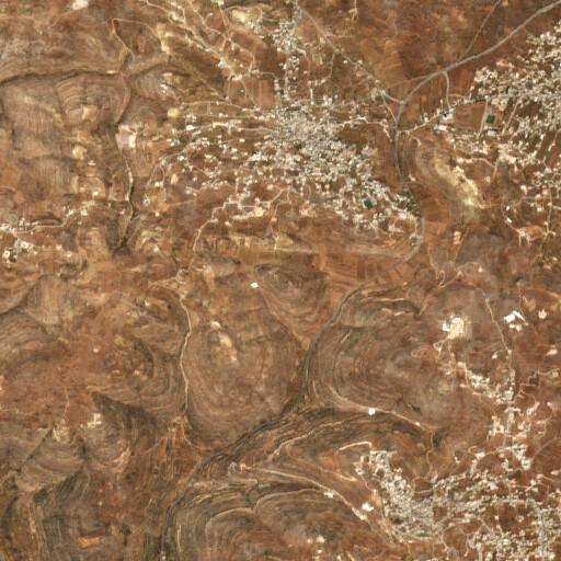 satellite view of the region around Khirbet et Tell