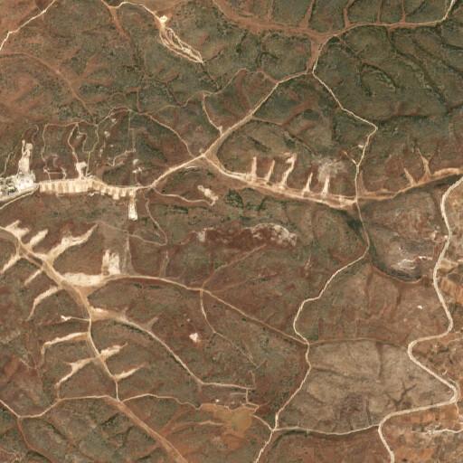 satellite view of the region around Khirbet Qanan Mugheimis