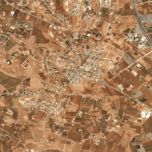 satellite view of the region around Khirbet Hamzeh