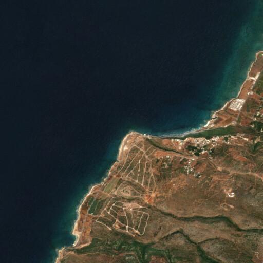 satellite view of the region around Ras el Biyada