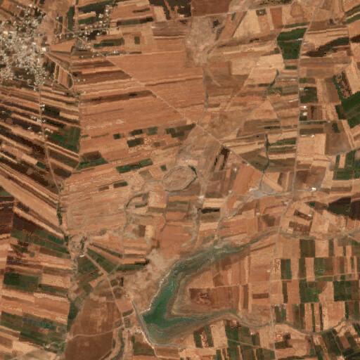 satellite view of the region around Tell Ashtara