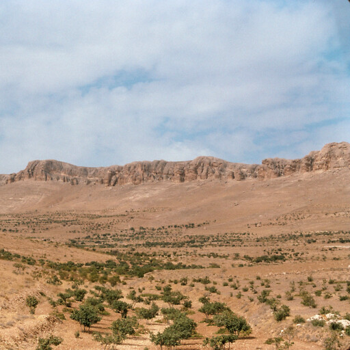 panorama of cliffs in the region between Damascus and Hamath
