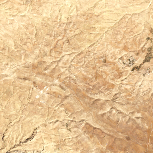 satellite view of the region around Khirbet Musrab