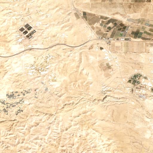 satellite view of the region around Tell Muhalhal