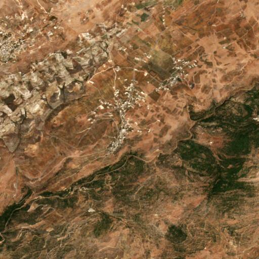 satellite view of the region around Tell Haush