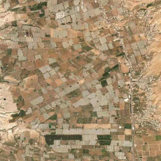 satellite view of the region around Tall el Mazar