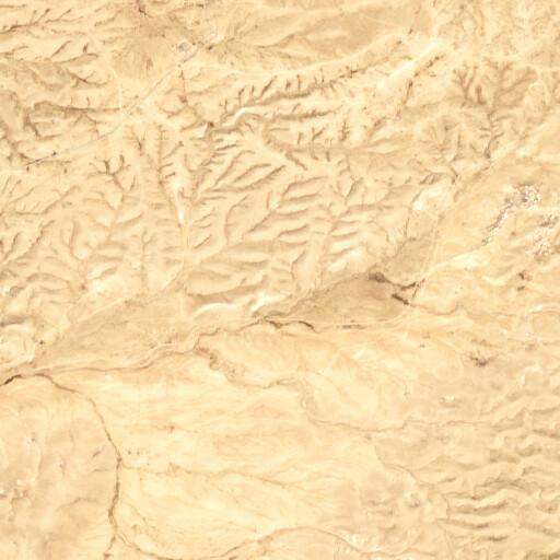 satellite view of the region around Khirbet Erqa Saqra