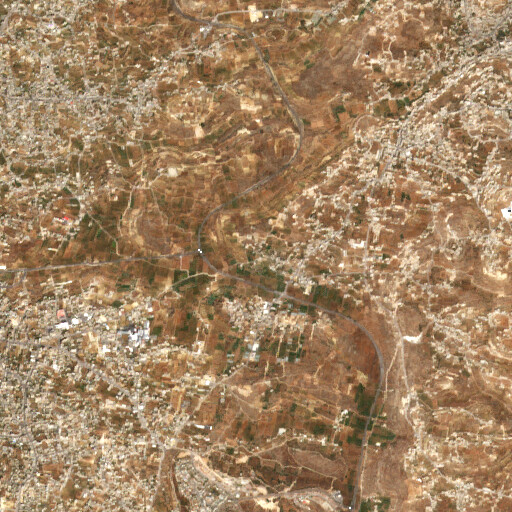 satellite view of the region around Ain Eshkali