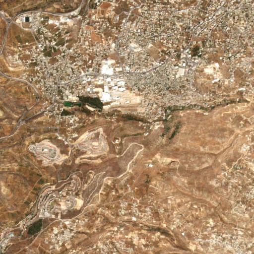 satellite view of the region around Khirbet el Khokh