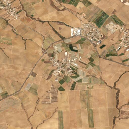 satellite view of the region around Khirbet Zuheiliqah