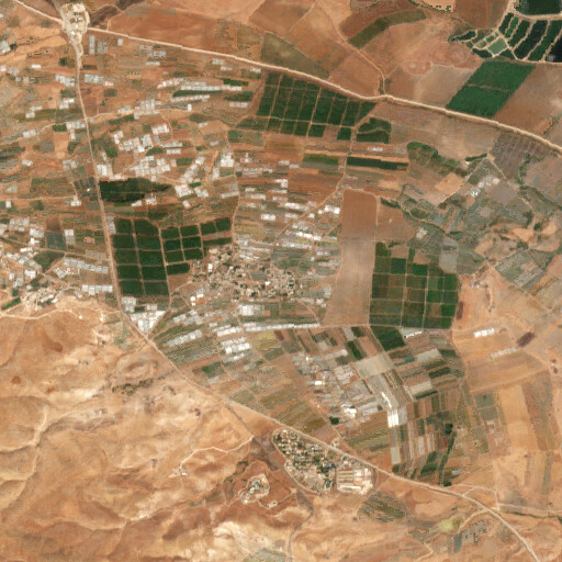 satellite view of the region around Tell esh Shamsiya