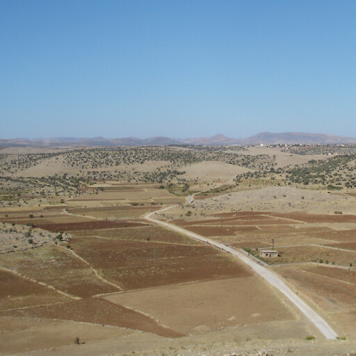 panorama of a hills in Tur Abdin