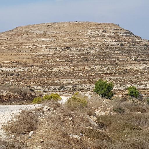 panorama of Khirbet Tibnah