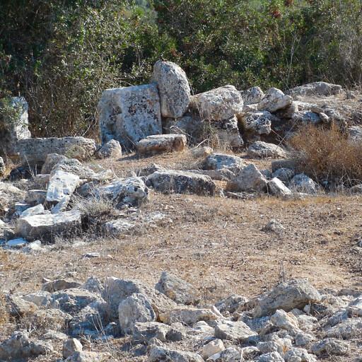 ruins at Khirbet el Makhbiyeh