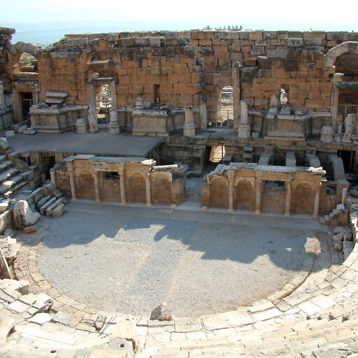 panorama of the theater at Hierapolis