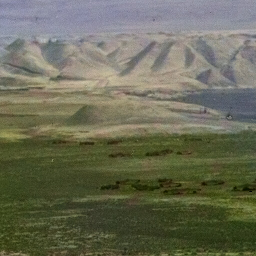 panorama of a region including Tell ed Damiyeh