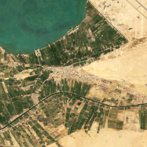 satellite view of the region around the plain near Jabal Jinayfah