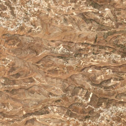 satellite view of the region around Khirbet Fuqeiqis