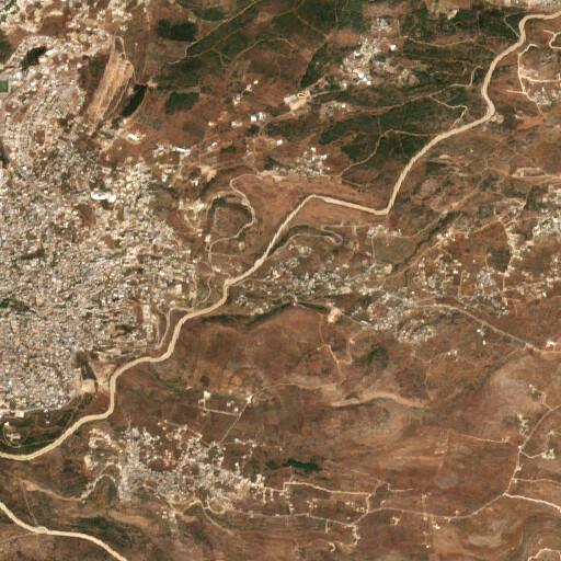 satellite view of the region around Khirbet Taiyibeh