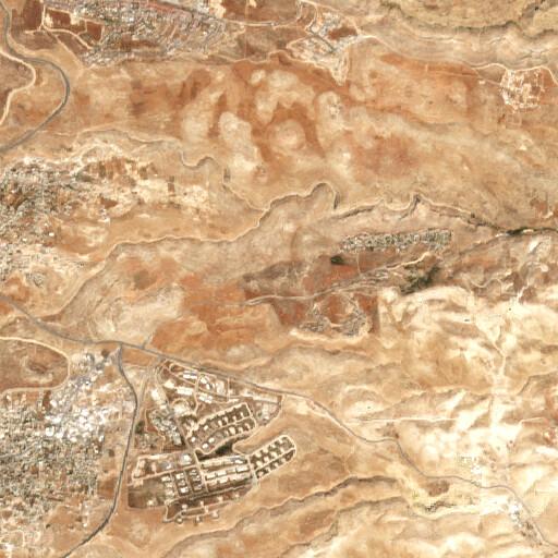 satellite view of the region around Khirbet Abu Musarrah