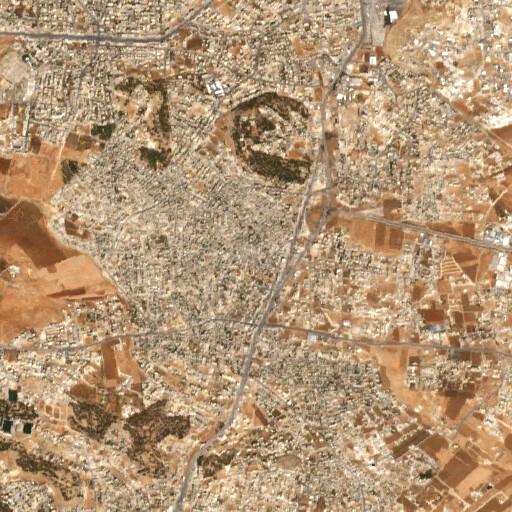 satellite view of the region around Khirbet es Suq