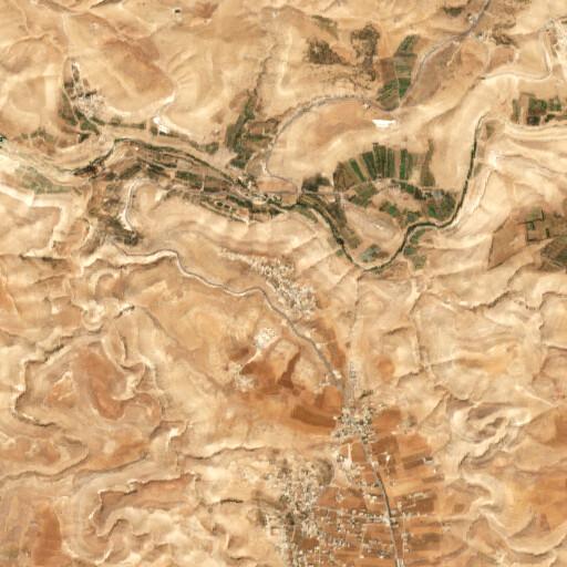 satellite view of the region around Rujm el Meshrefeh