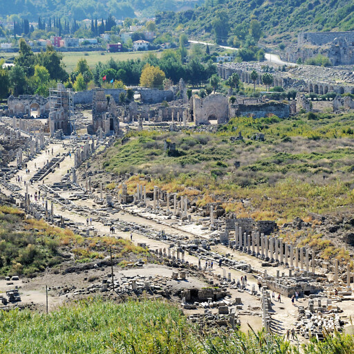 panorama of ruins at Perga