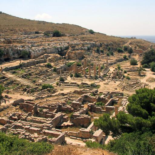 panorama of ruins at Cyrene
