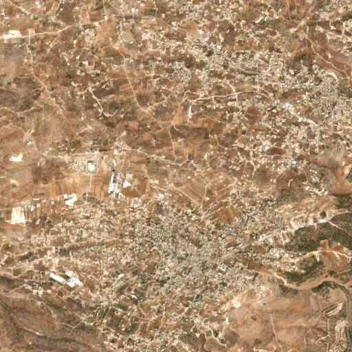 satellite view of the region around Khirbet Beit Nesib esh Sharqiyyeh