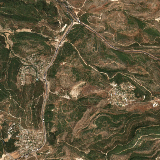 satellite view of the region around Alein