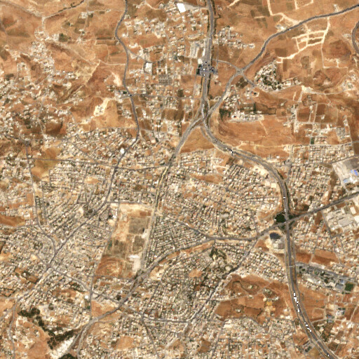 satellite view of the region around Merj Ekkeh