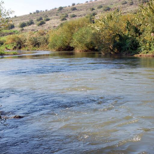 closeup of the Jordan River