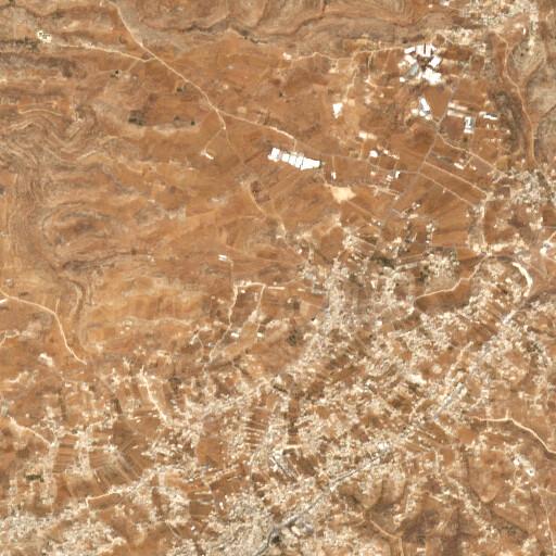 satellite view of the region around Khirbet Khallat Sam'a
