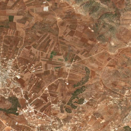 satellite view of the region around Khirbet Salhab