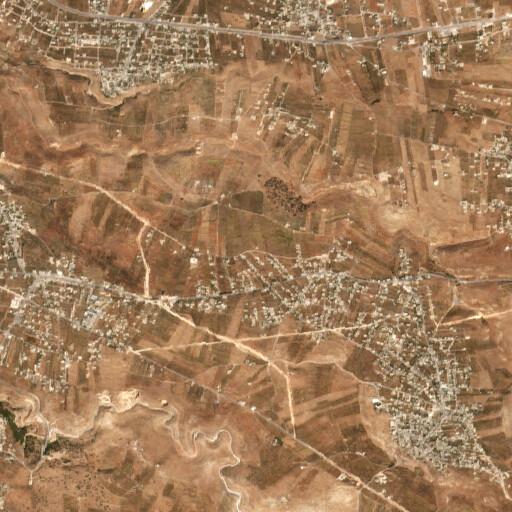 satellite view of the region around Tell Barsina