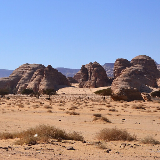 panorama of hills in the region between Dedan and Kedar